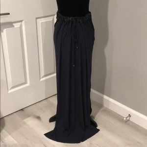 Navy Blue Maxi Skirt with slits